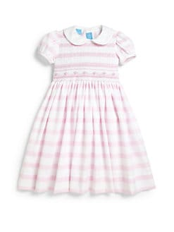 Anavini - Toddler's & Little Girl's Striped Pique Dress