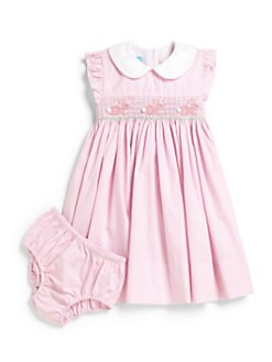 Anavini - Toddler's & Little Girl's Gingham Bunny Dress & Bloomers Set