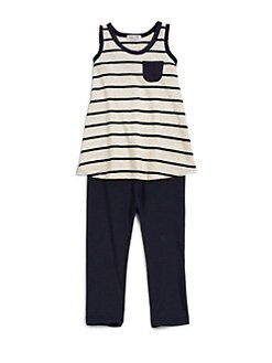 Splendid - Toddler's & Little Girl's Confetti Striped Tank & Pants Set
