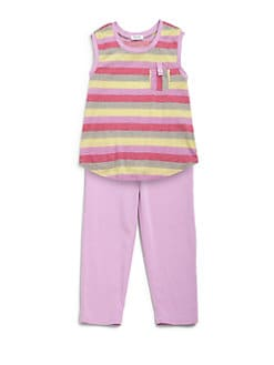 Splendid - Toddler's & Little Girl's Striped Tank & Leggings Set