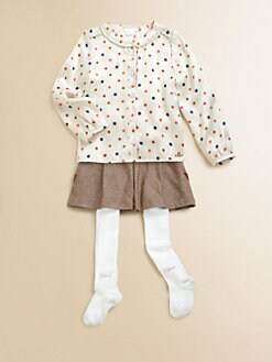 Chloe - Toddler's & Little Girl's Dotted Shirt