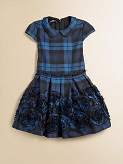 David Charles - Toddler's & Little Girl's Embroidered Plaid Dress