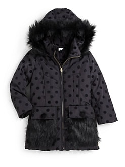 Little Marc Jacobs - Toddler's & Little Girl's Faux Fur Dot Coat