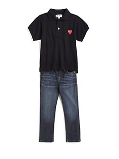 Comme des Garcons Play - Toddler Girl's Heart Emblem Polo Shirt