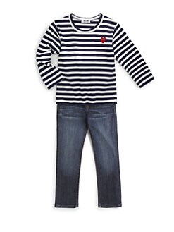 Comme des Garcons Play - Toddler's & Little Girl's Striped Logo Emblem Tee