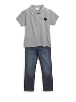 Comme des Garcons Play - Toddler's & Little Girl's Heart Emblem Polo Shirt