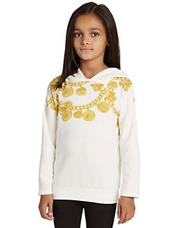Versace - Toddler's & Little Girl's Gold Chain Hoodie
