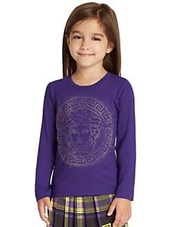 Versace - Toddler's & Little Girl's Medusa Logo Tee