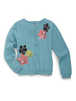 Hartstrings - Toddler's & Little Girl's Floral Embroidered Cardigan