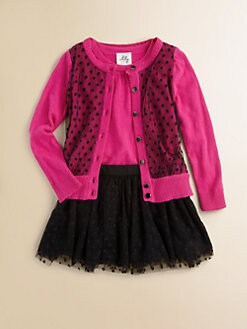 Milly Minis - Toddler's & Little Girl's Pindot Cardigan
