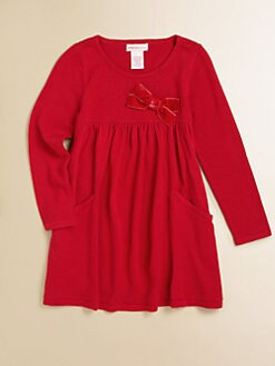 Design History - Toddler's & Little Girl's Velveteen Bow Dress