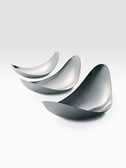 Georg Jensen - Set of 3 Leaf Bowls