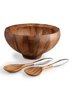 Nambe - Yaro Salad Bowl with Servers