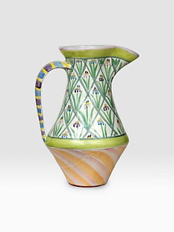 MacKenzie-Childs - Iris Ceramic Pitcher