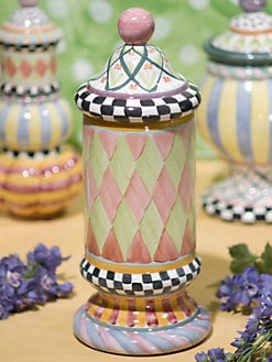 MacKenzie-Childs - Odd Fellows Ceramic Canister