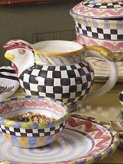 MacKenzie-Childs - Piccadilly Chicken Pitcher