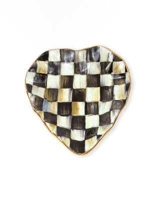 Courtly Check Ceramic Heart Plate