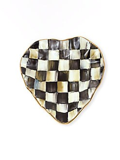 MacKenzie-Childs - Courtly Check Ceramic Heart Plate