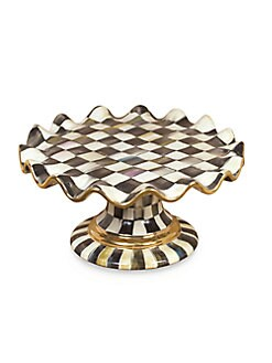 MacKenzie-Childs - Courtly Check Ceramic Cake Stand