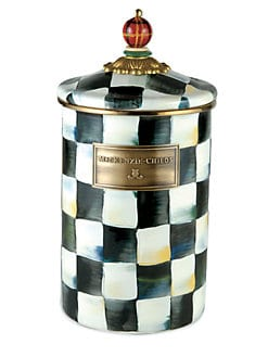 - Courtly Check Enamelware Canister