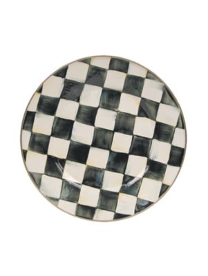 Courtly Check Enamelware Plate
