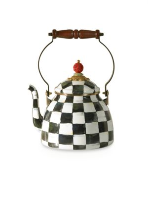Courtly Check Enamel Tea Kettle