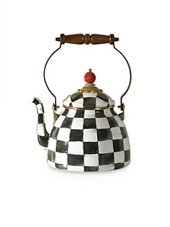 MacKenzie-Childs - Courtly Check Enamel Tea Kettle