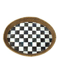 MacKenzie-Childs - Courtly Check Rattan Tray