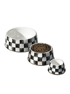 MacKenzie-Childs - Courtly Check Pet Dish