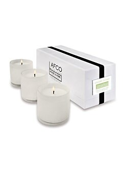 Lafco - Dining Room/Celery Thyme Glass Candle Trio