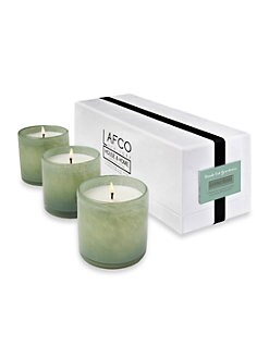 Lafco - Living Room/Fresh Cut Gardenia Mini Glass Candles Trio