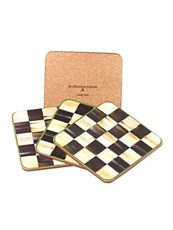 MacKenzie-Childs - Courtly Check Coasters, Set of 4