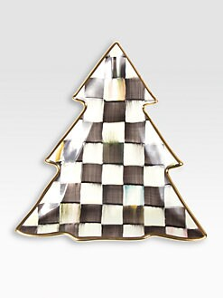 MacKenzie-Childs - Country Check Ceramic Tree Dish