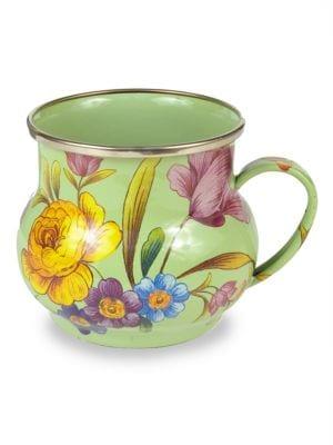 Flower Market Enameled Mug