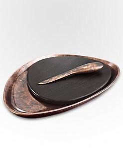 Nambe - Heritage Pebble Cheeseboard & Knife