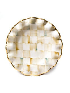 MacKenzie-Childs - Parchment Check Fluted Dessert Plate