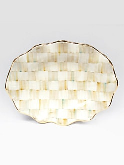 MacKenzie-Childs - Parchment Check Large Serving Platter