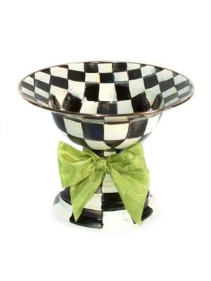 Courtly Check Enamel Compote 0407546505813