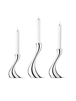 Georg Jensen - Cobra Candlesticks, Set of 3