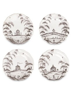 Juliska - Country Estate Stoneware Cocktail Plates, Set of 4