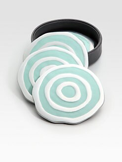 Michael Wainwright - Como Coasters, Set of 4/Blue