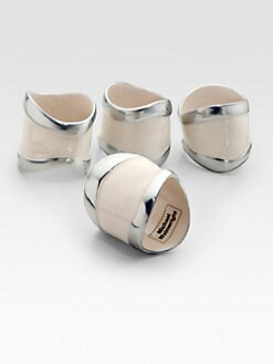 Michael Wainwright - Como Napkin Rings, Set of 4/White