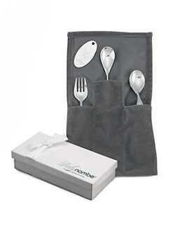 Nambe - Baby's Loop Spoon, Fork & Feeding Spoon Set