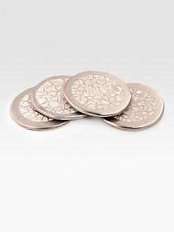 Michael Wainwright - Amalfi Platinum Coasters, Set of 4