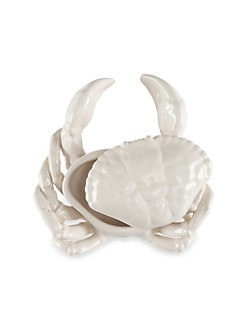 Oscar de la Renta - Crab Earthenware Condiment Server