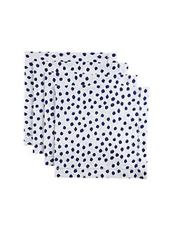 Oscar de la Renta - Dot-Print Linen Napkins, Set of 4