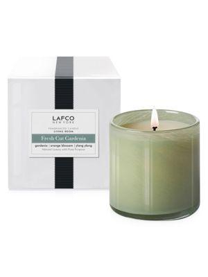LAFCO Fresh Cut Gardenia Glass Candle/16 oz.