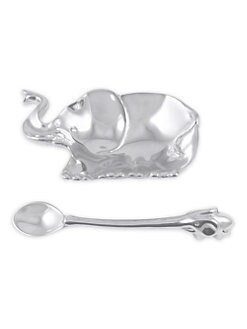 Mariposa - Elephant Porringer & Spoon Set