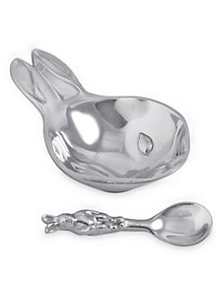 Mariposa - Bunny Porringer & Spoon Set