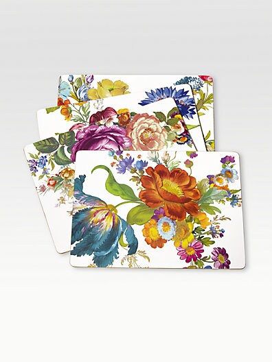 Flower Market Placemats, Set of 4